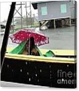 Happy In The Rain Canvas Print