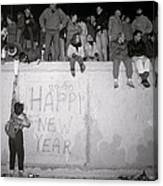 Freedom At The Berlin Wall Canvas Print