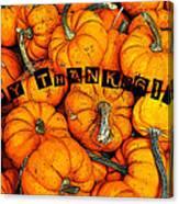 Happy Thanksgiving Art Canvas Print