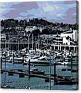 Harbor At Torquay Canvas Print
