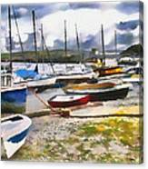 Harbor Boats Canvas Print