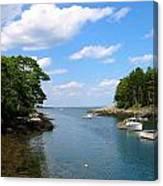 Harbor Home Maine Canvas Print