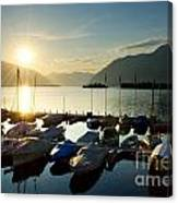 Harbor In Sunrise Canvas Print