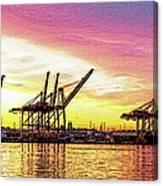 Harbor Island Sunrise Canvas Print