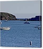Harbor On The California Coast Canvas Print