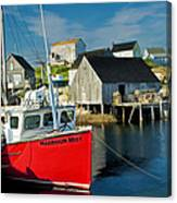 Harbour Mist In Peggy's Cove No 103 Canvas Print
