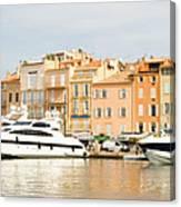 Harbour, St. Tropez, Cote D'azur, France Canvas Print