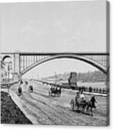 Harlem River Speedway Scene Beneath The George Washington Bridge Canvas Print