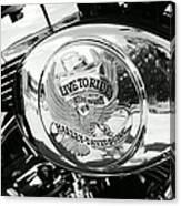 Harley Davidson Bike - Chrome Parts 22 Canvas Print