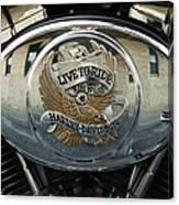 Harley Davidson Bike - Chrome Parts 44c Canvas Print