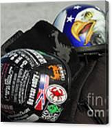Harley Helmets Canvas Print