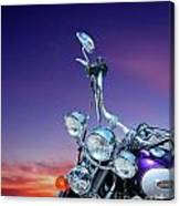 Harley Sunset Canvas Print