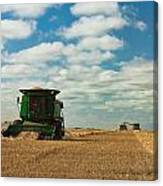 Harvest On The Canadian Prairies Canvas Print