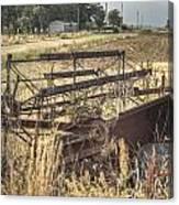 Harvester Sweep Wheel 1 Canvas Print