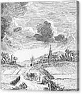 Harvesting, 18th Century Canvas Print