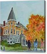 Haskell Free Library In Autumn Canvas Print