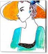 Hat Lady 15 Canvas Print