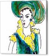 Hat Lady 16 Canvas Print