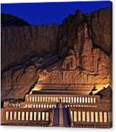 Hatshepsuts Mortuary Temple Rises Canvas Print
