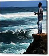 Hawaiian Fisherman Canvas Print