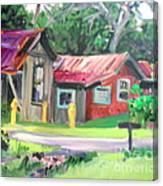 Hawaiian Tin Roofs Canvas Print