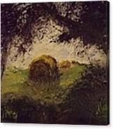 Hay Bale Canvas Print