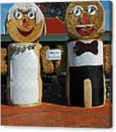 Hay Bale Wedding Canvas Print