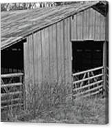 Hay Barn In The Back 40 Canvas Print