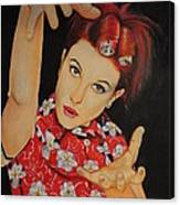 Hayley Williams Portrait Canvas Print