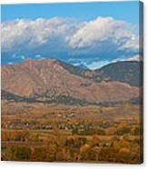 Haystack Autumn View Canvas Print