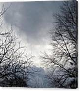 Hazy Cloudy Sky Canvas Print
