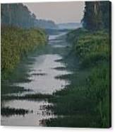 Hazy Morning At Logging Canal Canvas Print