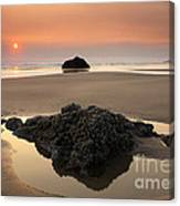 Hazy Oregon Sunset Canvas Print