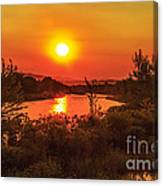 Hazy Sunrise Canvas Print