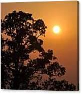 Hazy Sunset Canvas Print