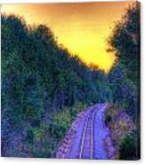 Hdr- Railroad Tracks Canvas Print