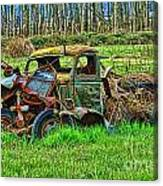 Hdr Wreck Canvas Print