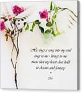He Sings  Series Image 1 Canvas Print