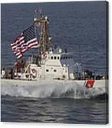 He U.s. Coast Guard Cutter Adak Canvas Print