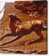 He Who Saved The Deer - Deer Detail Canvas Print