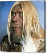 Head Of A Model Of A Neanderthal Man Canvas Print
