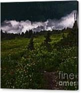Heading Home Through The Meadow Canvas Print