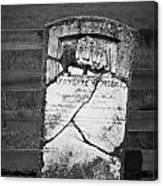 Headstone Of Lafayette Meeks Canvas Print