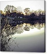 Hearns Pond Reflection Canvas Print