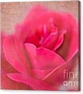 Heart Of The Rose Canvas Print