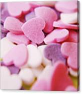 Heart Shaped Candies Canvas Print