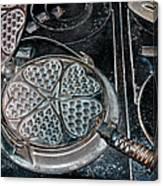 Heart Waffle Iron Canvas Print