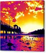Heat Wave Sunset Canvas Print