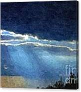 Heaven Opening To Let Out The Sun Painterly Style Canvas Print