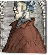 Heinrich Cornelius Agrippa, German Canvas Print